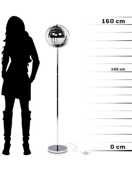 Lampe de sol design NINA BIG CHROME - par Kokoon Design