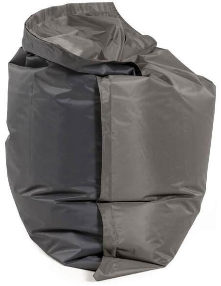 Pouf design gris clair/gris foncé FAT - par Kokoon Design