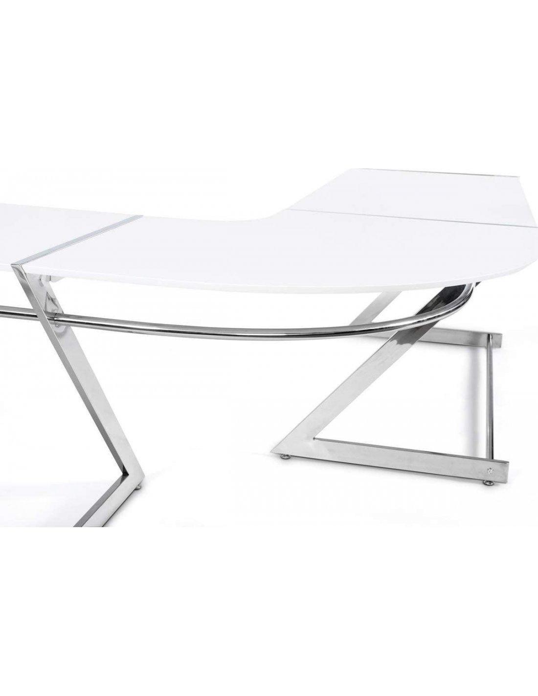Bureau D Angle Arrondi bureau design ares | kokoon design | blanc