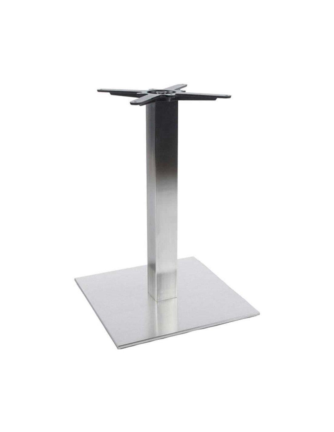 Pied De Table Inox.Pied De Table 75cm Kokoon Design Argent