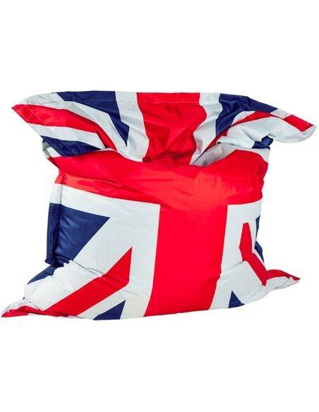 pouf poire bleu fat uk flag kokoon design 165 35 chez recollec. Black Bedroom Furniture Sets. Home Design Ideas