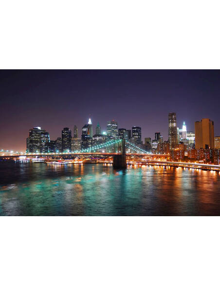 Tableau NEW YORK FROM THE BRIDGE BY NIGHT - par ReCollection