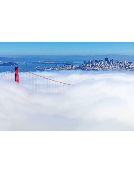 Tableau SAN FRANCISCO IN THE MIST - par ReCollection