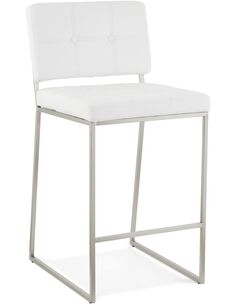 Tabouret De Bar Simili Cuir Blanc Dod Chaises de bar Kokoon Design