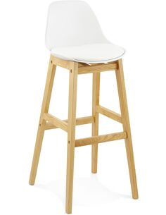 Tabouret De Bar Simili Cuir Blanc Elody Chaises de bar Kokoon Design