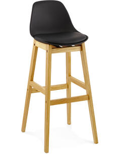 Tabouret De Bar Simili Cuir Noir Elody Chaises de bar Kokoon Design