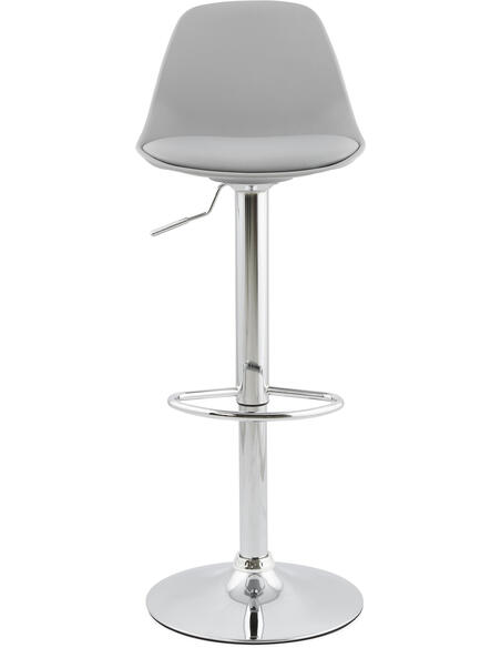 Tabouret De Bar Simili Cuir Gris Suki Chaises de bar Kokoon Design