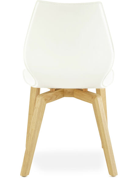 Chaise Simili Cuir Blanc Siret Chaises de cuisine et salle à manger Kokoon  Design 82073466ccd5