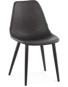 Chaise Simili Cuir Noir Wilson Chaises de cuisine et salle à manger Kokoon Design