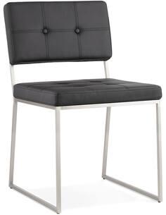 Chaise Simili Cuir Noir Gami Chaises de cuisine et salle à manger Kokoon Design