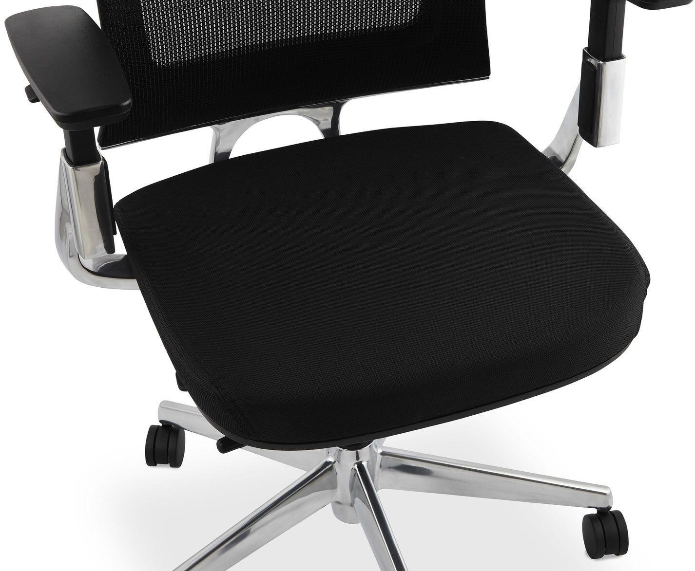 Chaise de bureau tissu noir tepper à u ac chez recollection