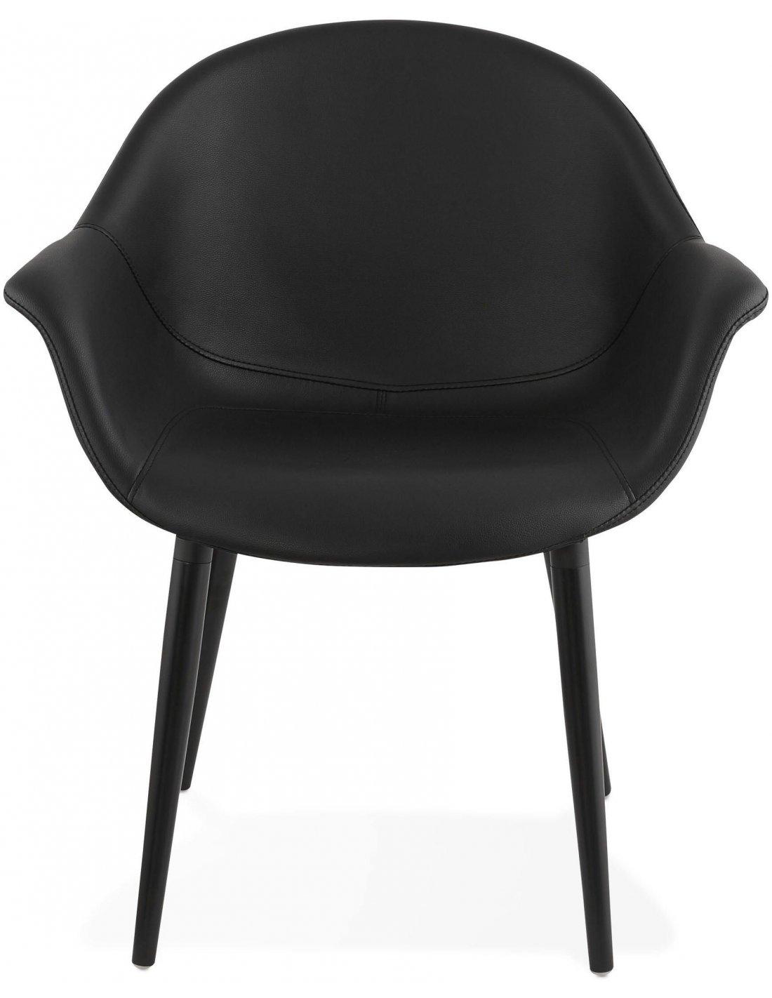 fauteuil simili cuir noir melrose 249 12 chez recollection. Black Bedroom Furniture Sets. Home Design Ideas