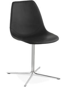 Chaise Simili Cuir Noir Bedford Chaises de cuisine et salle à manger Kokoon Design