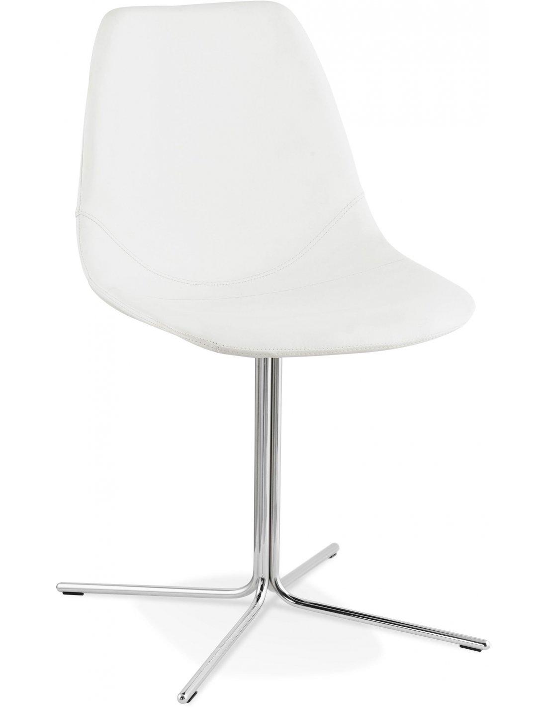 Chaise Simili Cuir Blanc Bedford Chaises De Cuisine Et Salle Manger Kokoon Design