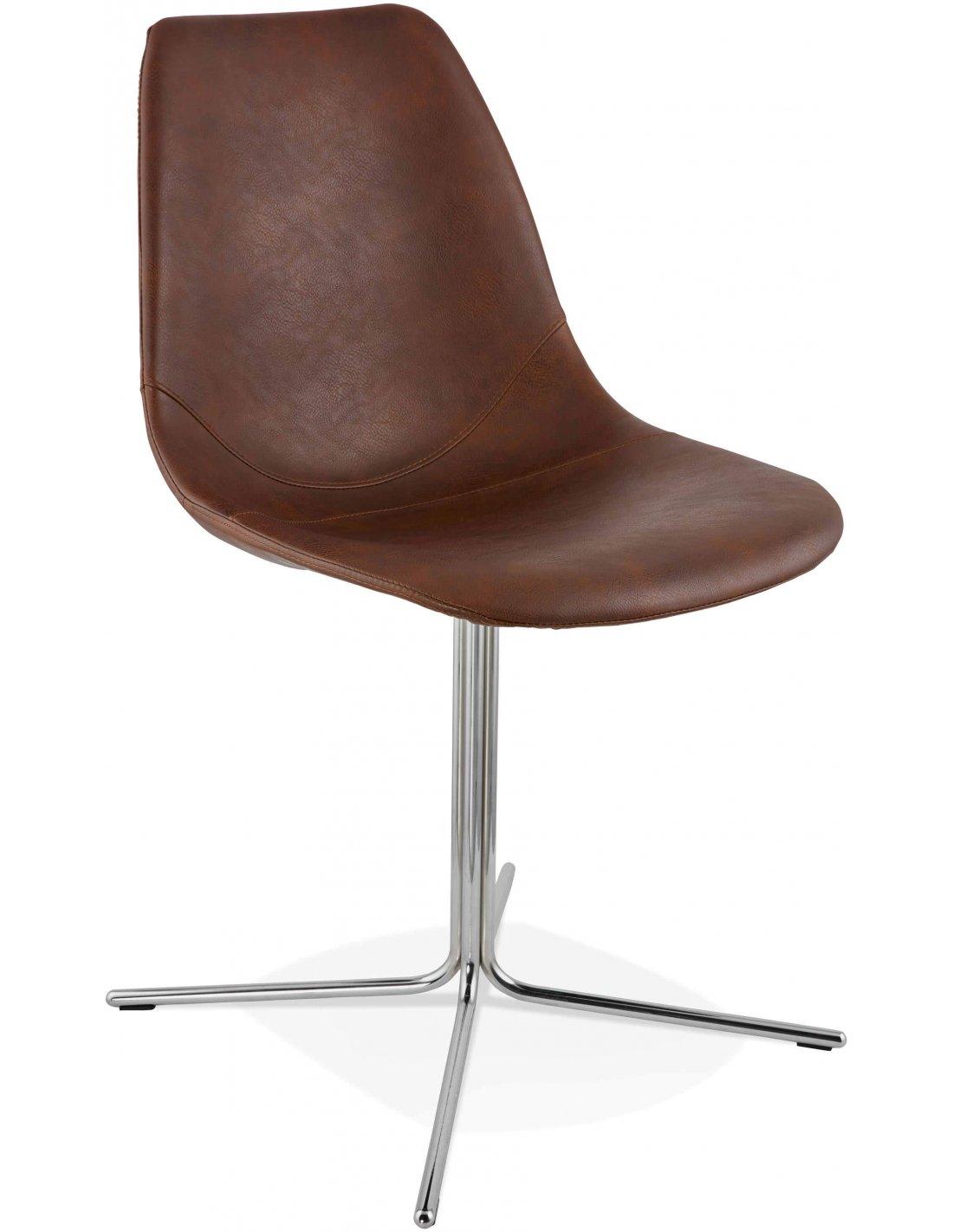 chaise design bedford kokoon design marron