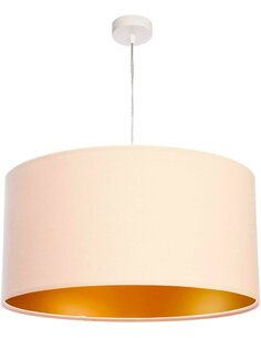 Suspension GLAMOUR Velour Crème avec Intérieur Doré - par BPS Koncept