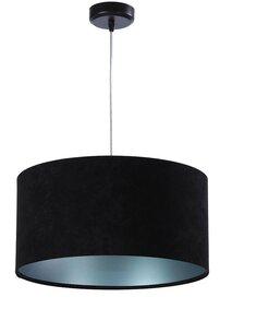 Suspension GLAMOUR Velours Noir avec Intérieur Argenté - par BPS Koncept