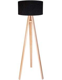 Lampadaire CLASSIC Velours Noir avec Intérieur Blanc - par BPS Koncept