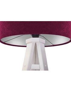 Lampadaire GLAMOUR Velour Violet avec Intérieur Argenté - par BPS Koncept