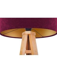 Lampadaire GLAMOUR Velour Violet avec Intérieur Doré - par BPS Koncept