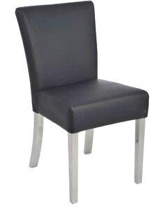 Chaise ingrid cuir noir 46x59x87cm Chaises de cuisine et salle à manger J-Line