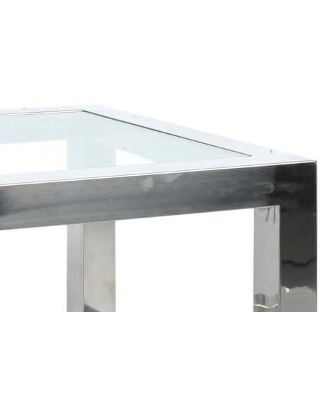 Table basse acier inoxydable ABINGTON CREEK - par J-Line