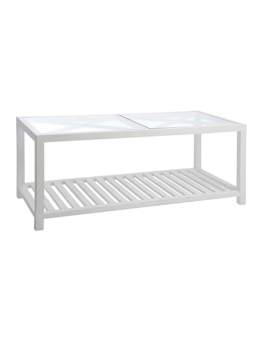 chaussures de séparation 34b96 6754f Table basse rectangulaire ADELONG | J-Line | Blanc