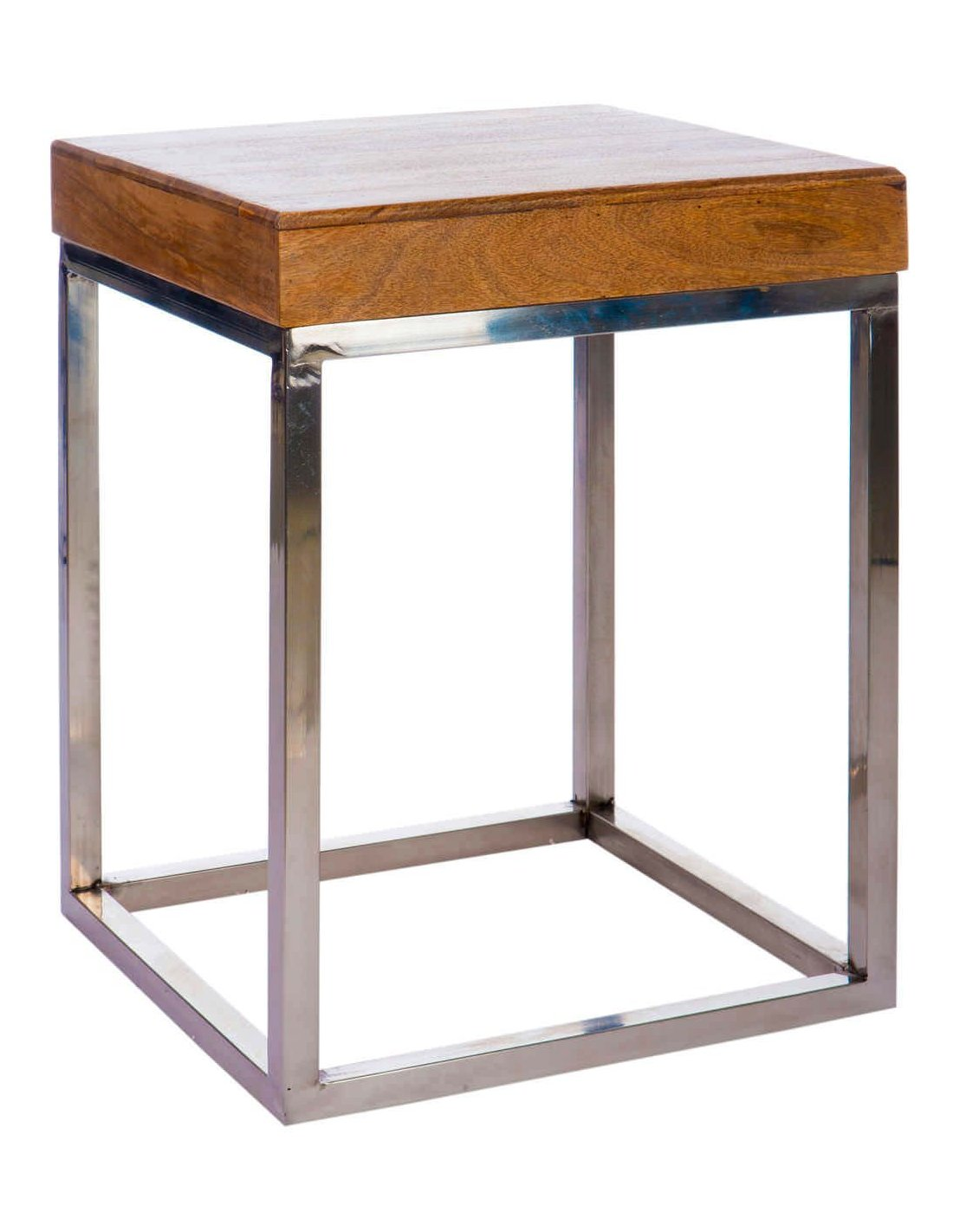 Table Gigogne Boismetal Naturel 45x45x60cm à 36490 Chez Recolle