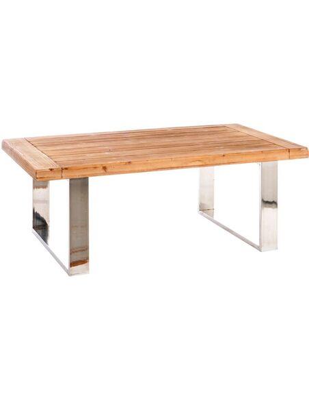 Table basse rectangulaire argent ALONNAH - par J-Line