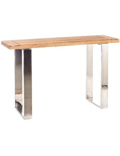 Console rectangulaire bois métal ALOOMBA - par J-Line