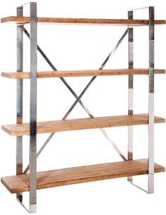 Etagere croix bois metal ALPINE - par J-Line