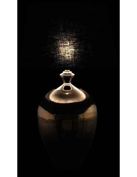 Lampe de salon boule lignes aluminium ARDING - par J-Line