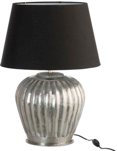 Lampe de salon cannelures aluminium small BALLARAT - par J-Line