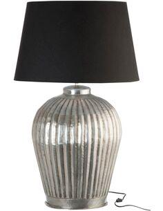 Lampe de salon cannelures aluminium large BALLDALE - par J-Line