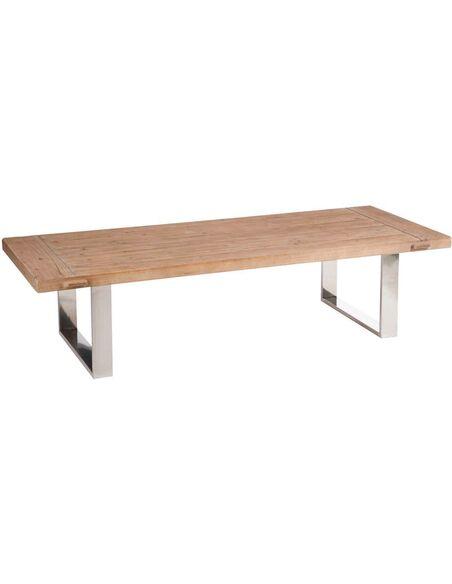 Table basse rectangulaire métal argent BALRANALD - par J-Line