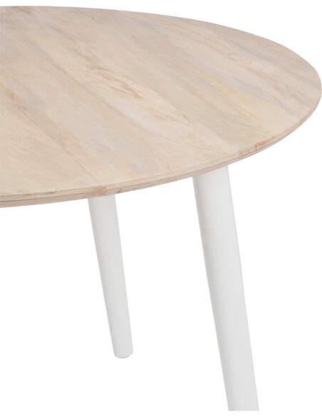 Table a manger ronde retro bois naturel/blanc 120x76cm à 464,90 € c...