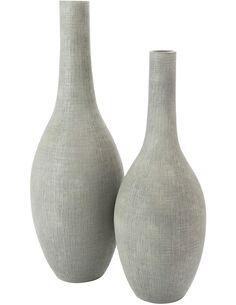 Vase bouteille relief carrée terracotta BARRINGUN - par J-Line