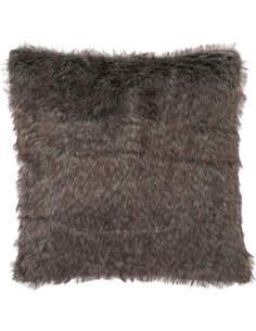 Coussin imitation fourrure gris BARTLE FRERE - par J-Line