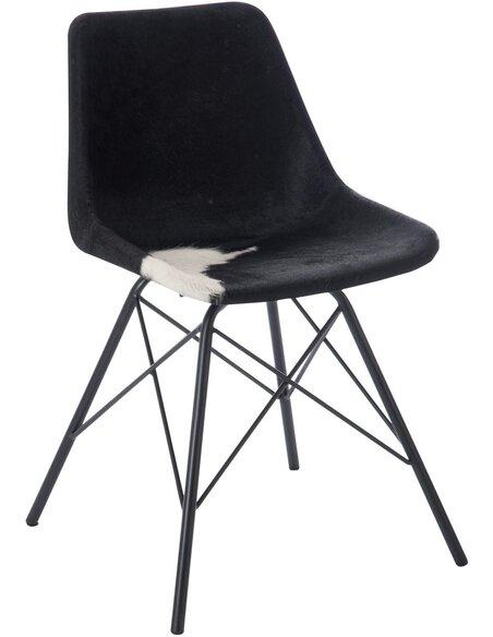 Chaise croix metal peau de chevre BARWO - par J-Line