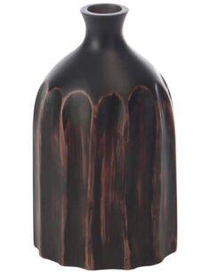 Vase taillade resine marron BATHUMI - par J-Line