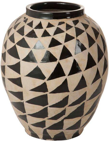 Vase ethnique triangle terracotta BEAUTY POINT - par J-Line