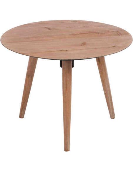 table gigogne ronde metal placage naturel large 184 90 chez rec. Black Bedroom Furniture Sets. Home Design Ideas