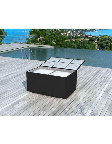 Coffre de rangement BOX Résine Tressée - par Delorm