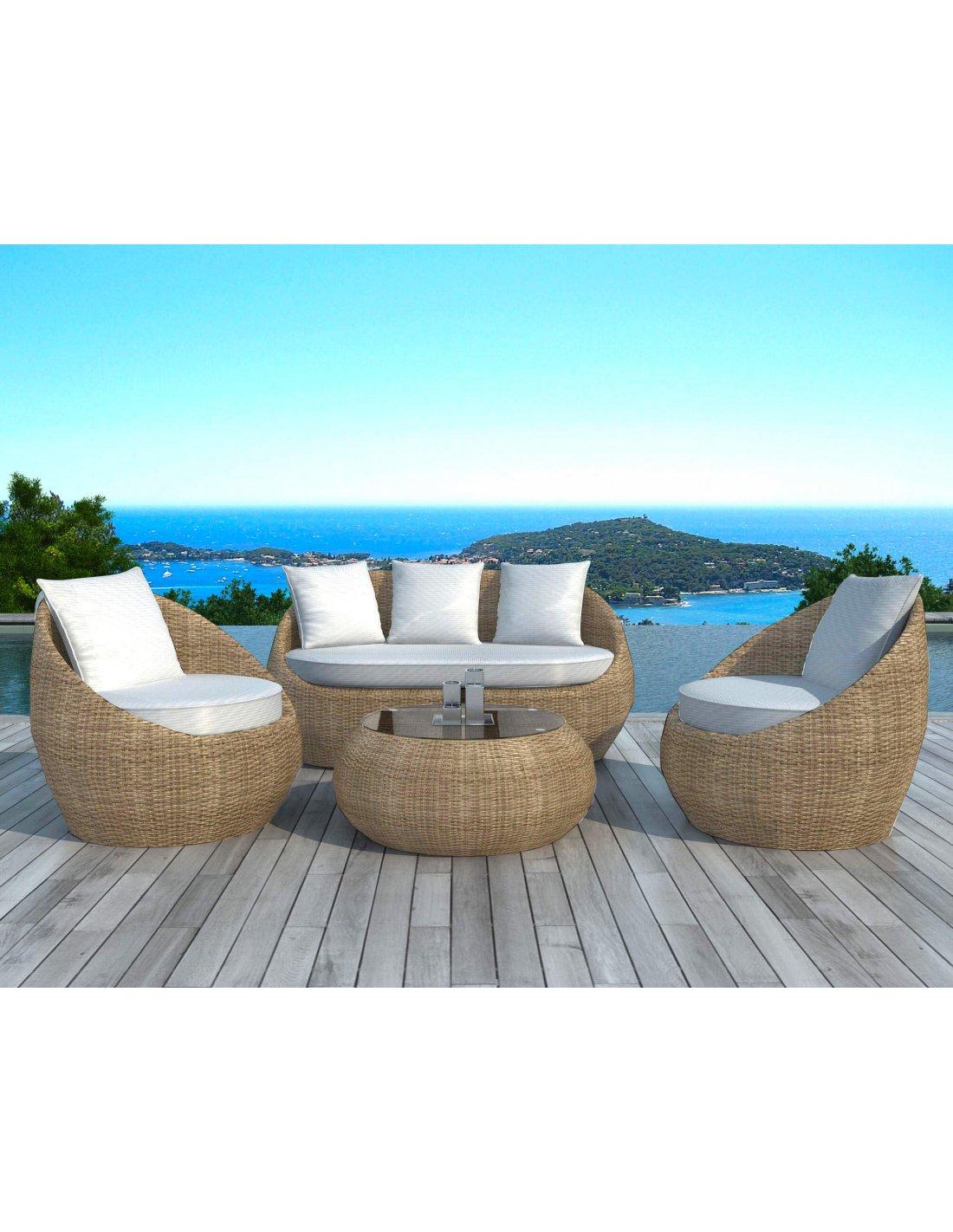 salon de jardin delorm rotin r sine tress e ronde delorm. Black Bedroom Furniture Sets. Home Design Ideas