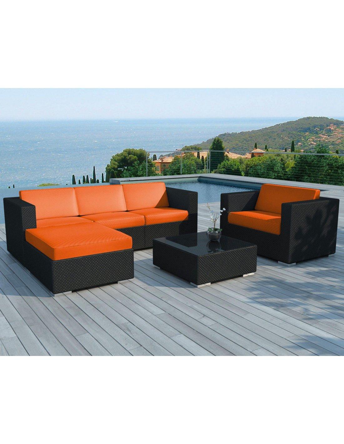 Sd8201 Orange (Sd8201 Black-White + Housse Orange) Salon De Jardin ...