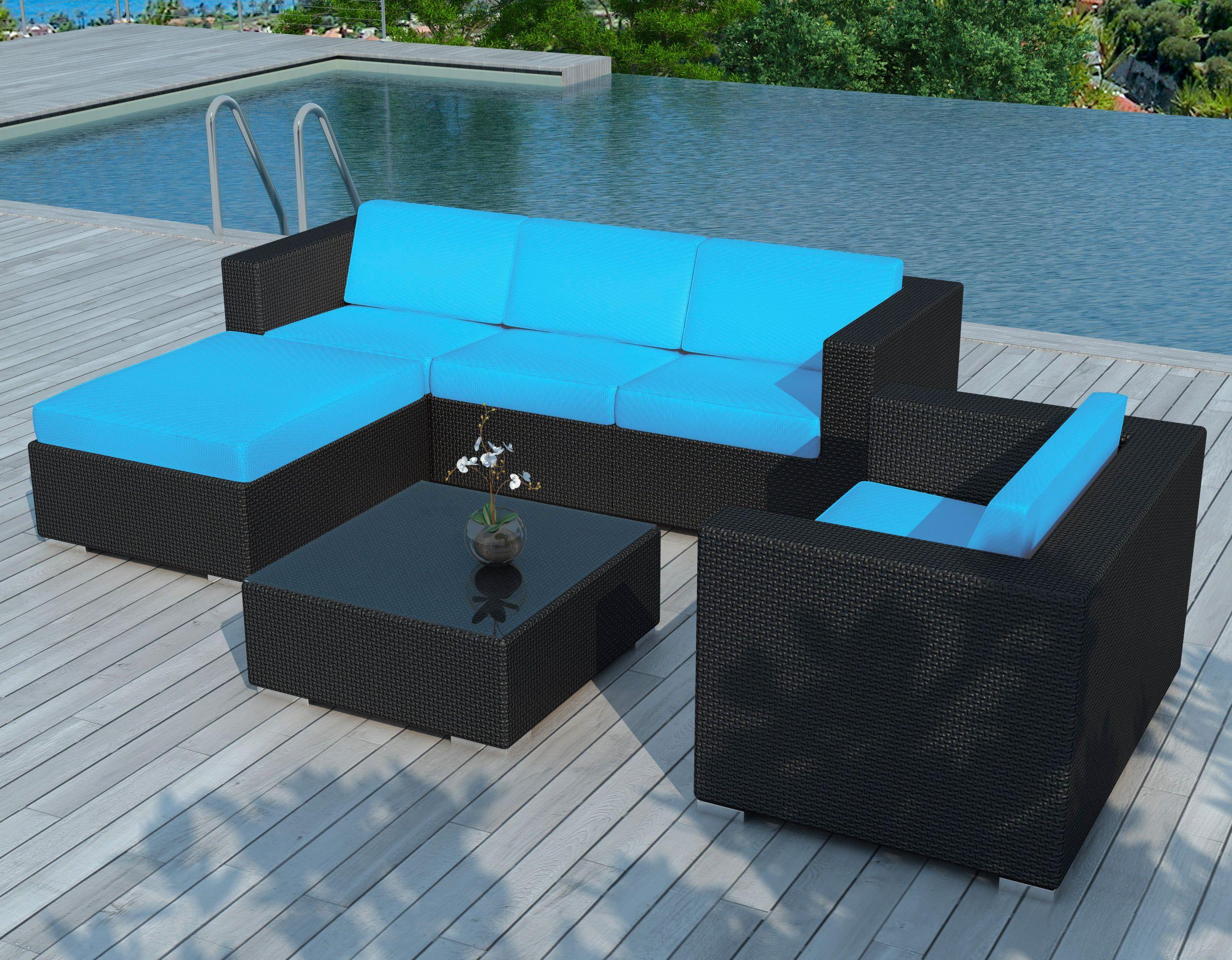 Salon de Jardin DELORM BLACK Chauffeuse | Delorm | Bleu