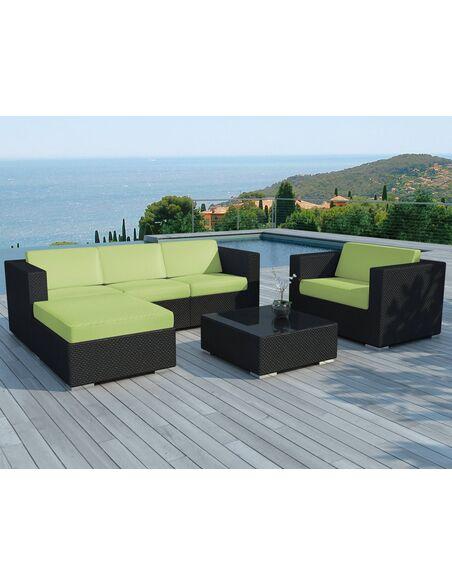 Stunning Salon De Jardin En Resine Tressee Vert Anis Photos - House ...