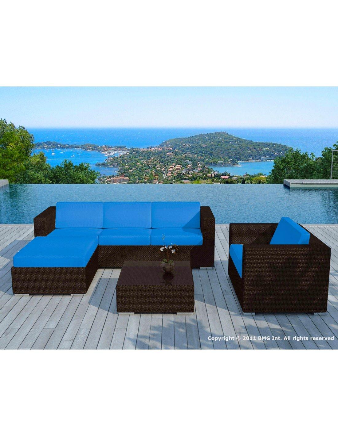 Sd8201 Turquoise (Sd8201 Choco-White + Housse Turquoise)- Salon De ...