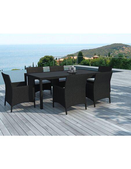 Table et Chaises DELORM BLACK de Jardin - par Delorm