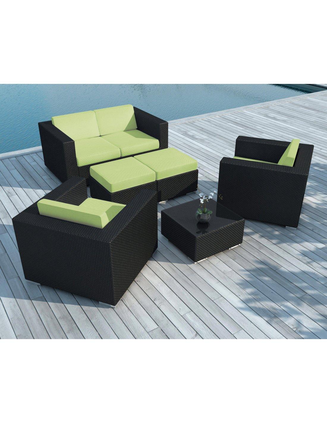 Sd9505 Vert - (Sd9505 Black/White + Housse Vert) - Salon De Jardin ...